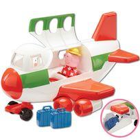 PEPPA PIG SERIE - Pars pour des vacances au soleil avec Peppa grâce à son avion ! Ouvre la soute à bagages et range les valises de Peppa. Ouvre la porte et Peppa peut embarquer