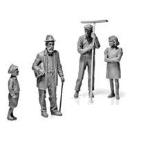 Master Box - Figurines 2ème Guerre Mondiale : Civils Europe de l'Ouest 1944