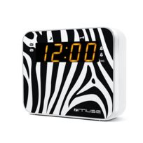 MUSE - Radio-Réveil - Double alarme - Radio PLL FM/MW - Motif Zèbre - M-165 ZW
