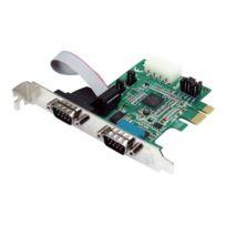 StarTech.com - Carte Pci Express 2 ports s rie Db9 Rs232 - Adaptateur Pcie s rie avec Uart 16950 - Adaptateur série - Pcie - Rs-232 x 2 - vert
