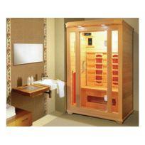 Habitat et Jardin - Cabine de sauna Infrarouge Milla - 2 places - 120x120x190cm