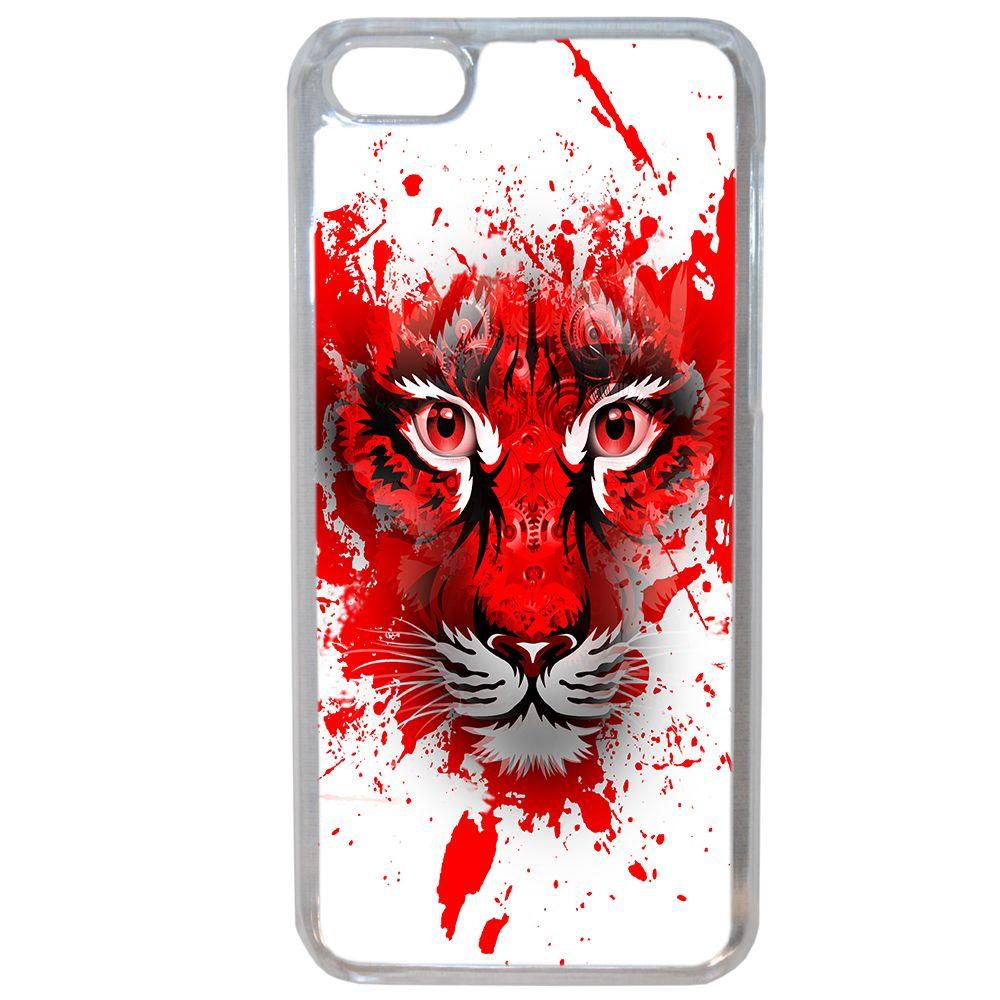 Lapinette - Coque Rigide Tête De Tigre Peinture Rouge Pour Apple Pour Apple Iphone 6 - 6s
