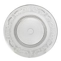 fa8fce30fde L HÉRITIER Du Temps - Assiette Plate à Dessert Plat de Présentation  Vaisselle en Verre