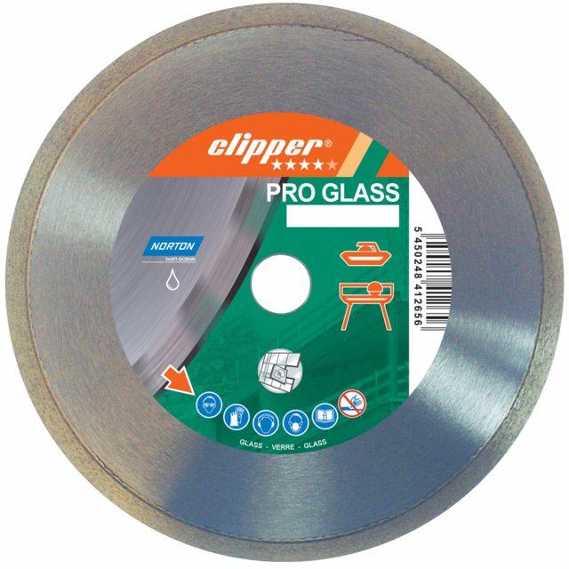 Norton Clipper - Disque diamant NORTON Pro Glass Ø 200 mm Alésage 25.4 - 70184630185
