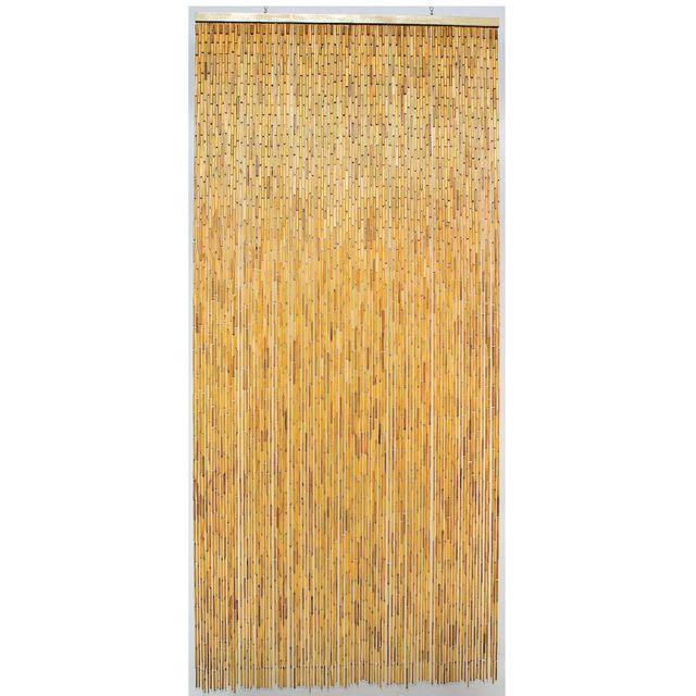 Morel rideau de porte bambou naturel 100x220cm pas - Rideau de porte exterieur plastique ...