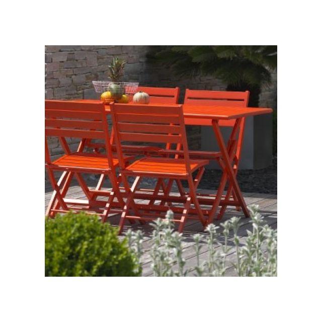 Dcb Garden - Kit Marius en aluminium table pliante 140x80 cm ...
