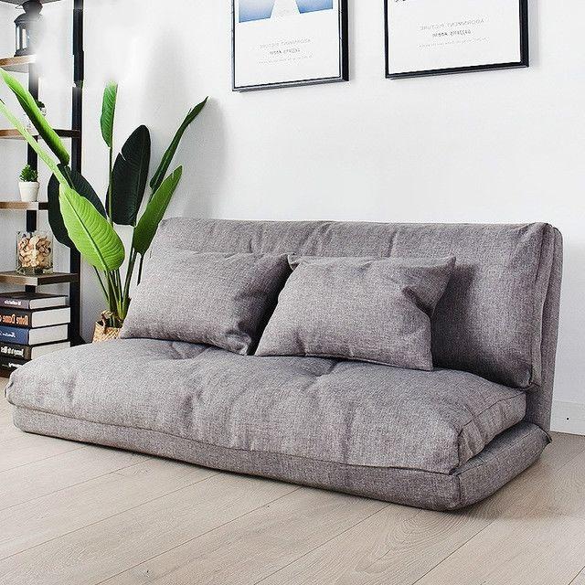 Wewoo Fauteuil Petit canapé-lit double multifonctionnel pliant 120cm gris clair