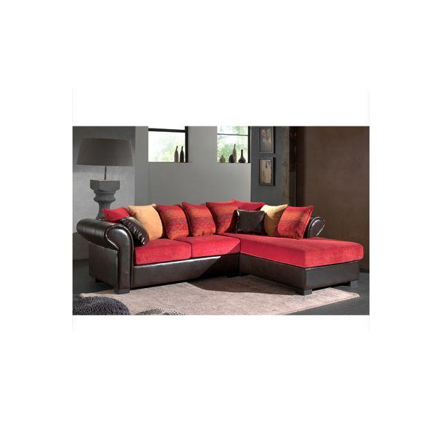 Canapé d'angle fixe droit aztec bimatière Djerba