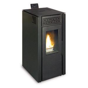 ferlux po le granul s pellets flora 6 3kw noir pas cher achat vente po les bois. Black Bedroom Furniture Sets. Home Design Ideas