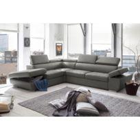Modern sofa - Casablanca gauche pvc gris