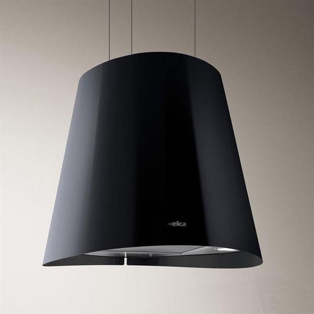 Elica Hotte cuisine suspendue inox noir Juno Ø 50 cm