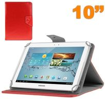 Yonis - Housse universelle tablette 10 pouces ajustable 10.1'' support Rouge