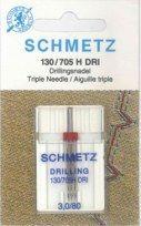 Schmetz - Aiguille triple pour machines à coudre Dri