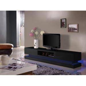 marque generique meuble tv firmament mdf laqu noir leds 2 tiroirs 1 niche pas cher. Black Bedroom Furniture Sets. Home Design Ideas