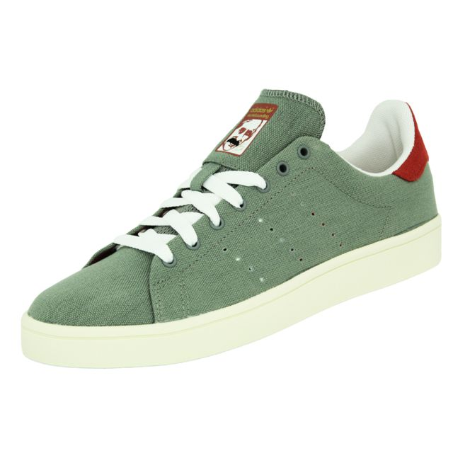 new concept 29697 38ae0 Adidas - Stan Smith Vulc Chaussures Sneakers Mode Homme Cuir Toile Gris  Rouge - pas cher Achat  Vente Baskets homme - RueDuCommerce