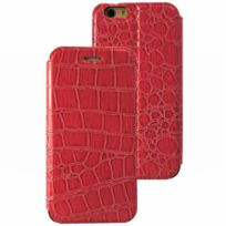 Mocca Design - Flip Case Facon Croco Rose Iphone 6