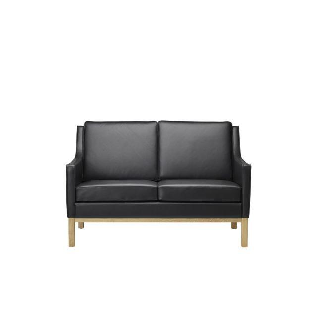 Marque Generique L601-2 Canapé - 2 places - noir