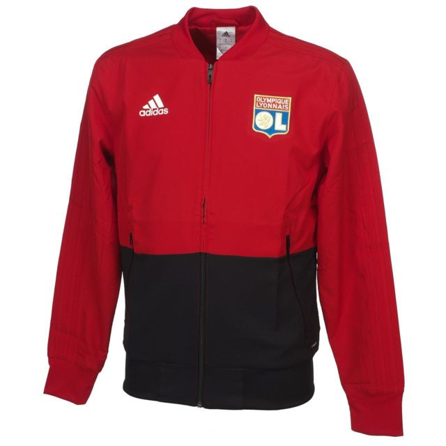 Adidas Vestes replica officielle Lyon veste ol h rge Rouge