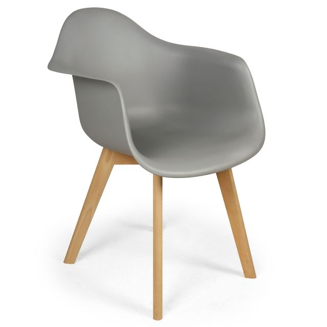Menzzo Lot De 4 Chaises Scandinaves Design Prado Gris Pas Cher