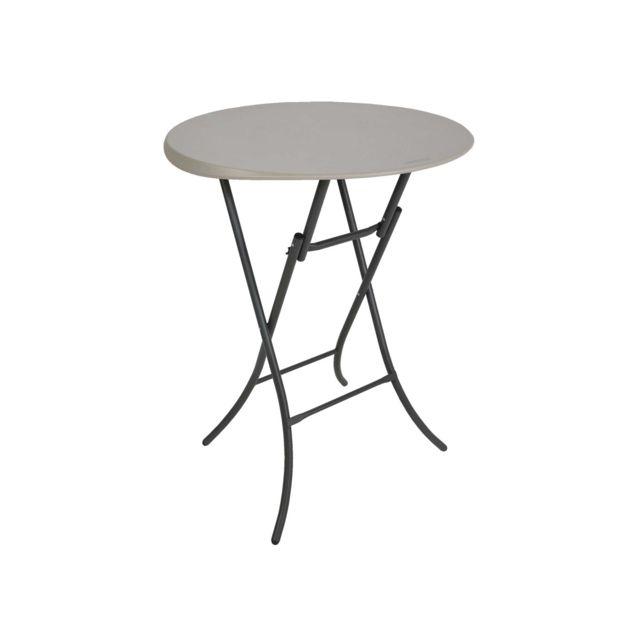 LIFETIME Table pliante mange-debout - Ø 84 cm - Hauteur 110 cm