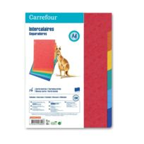CARREFOUR - Lot de 6 intercalaires - A4