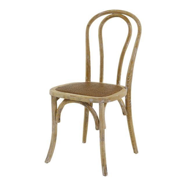 Lebrun Chaise beige patine Gaia