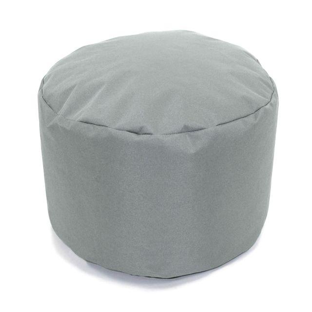 Mon Beau Tapis Pouf rond gris nuage intérieur extérieur 30x25cm