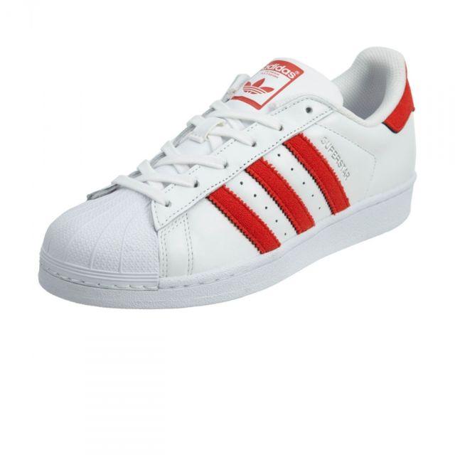 Adidas originals Chaussures Superstar BlancRouge pas