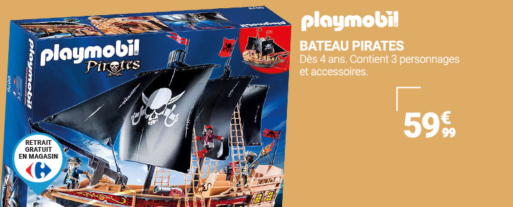 Bateux Pirate Playmobil