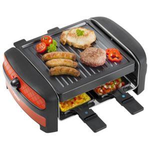 bestron raclette gril 600w avec thermostat pour 4. Black Bedroom Furniture Sets. Home Design Ideas