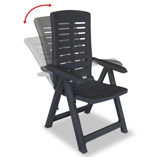 chaises de jardin inclinable