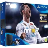 SONY - Pack PS4 SLIM 1To E Noire + FIFA 18