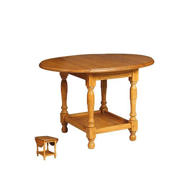 Petite table en chène massif avec 2 abattants Achelet