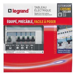 Legrand tableau lectrique quip sp cial pour extension - Tableau electrique legrand pas cher ...