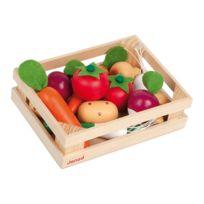Janod - Cagette de 12 légumes en bois