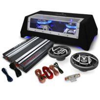 Electronic Star - Set HiFi Auto 2.1 Platin Line 320 Ampli enceintes subwoofer