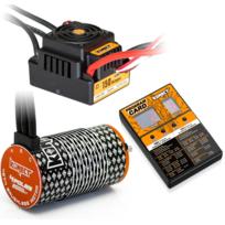 KONECT - Combo Brushless ESC 150A + moteur 4274 2000KV + Carte de programmation