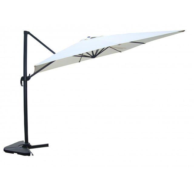 rocambolesk magnifique proxima cru parasol d port rectangulaire de 3x4m rotatif 360. Black Bedroom Furniture Sets. Home Design Ideas