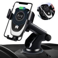 Chargeur de voiture sans fil 10W Qi Fast Charging Support de téléphone automatique dans la voiture Support de ventilation pour iPhone xs Huawei