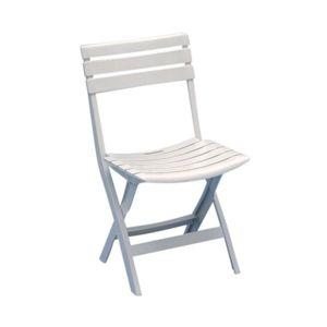 progarden chaise de jardin pliante birki blanc pas cher achat vente chaises de jardin. Black Bedroom Furniture Sets. Home Design Ideas