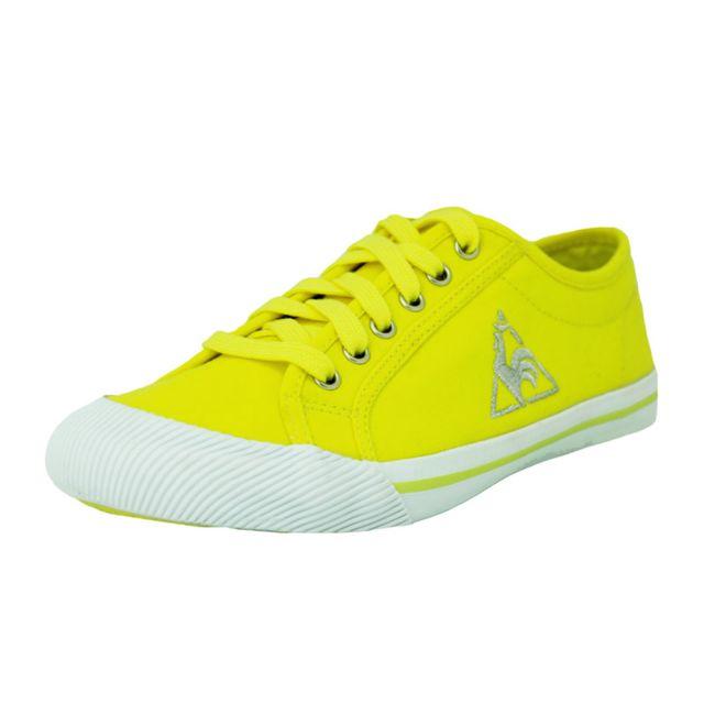 Le Coq Sportif - deauville fluo chaussures mode femme toile jaune - pas  cher Achat   Vente Baskets femme - RueDuCommerce 56405036d94