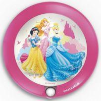 Philips - Veilleuse Princess détecteur Led D9,5 cm - Rose