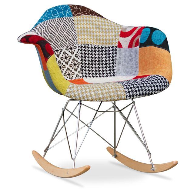 Privatefloor   Chaise à Bascule Rar Charles Eames   Style  Patchwork
