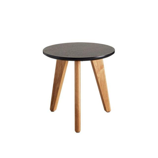 Inside 75 Table basse design Nordic taille S coloris chêne wengé