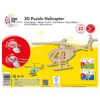 Marabu - Mara Puzzle 3D Hélicoptère pour Enfant de + 3 Ans