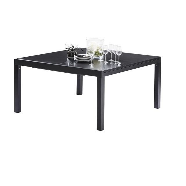 Wilsa Table Black Star Full Verre Noir T8/12 Tables & Ensembles Black Star
