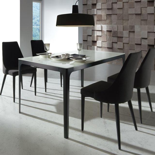 Tousmesmeubles Table de repas - Miamona - L 150 x l 90 x H 75