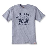 CARHARTT - T-shirt coton manches courtes avec logo Vintage gris chiné M S1102097034M