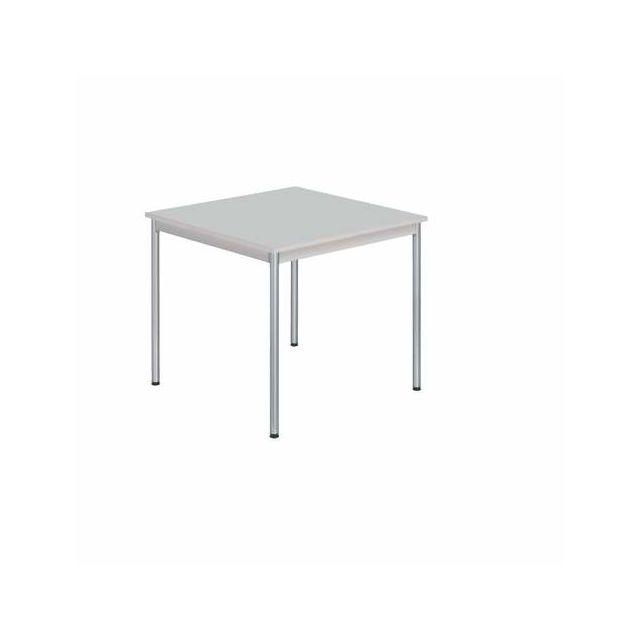 Table carrée Restauration - grise 80cm x 80cm x 74cm - pas cher Achat    Vente Tables d appoint - RueDuCommerce 9325ea9d4048