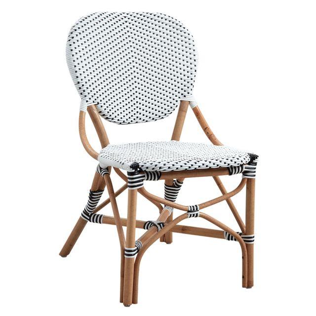 AUBRY GASPARD Chaise de terrasse en rotin et résine